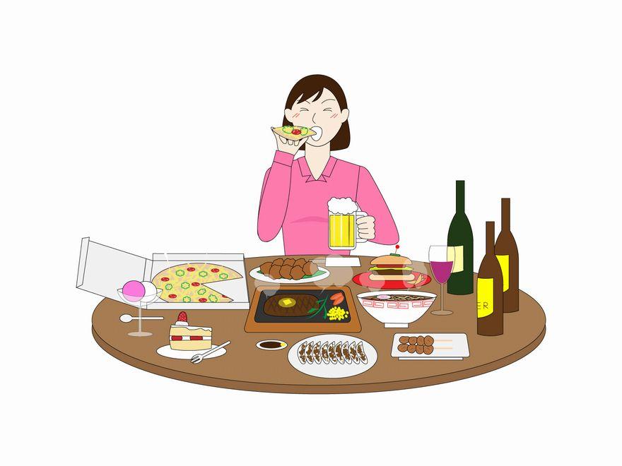 不健康な食事による高血糖に注意